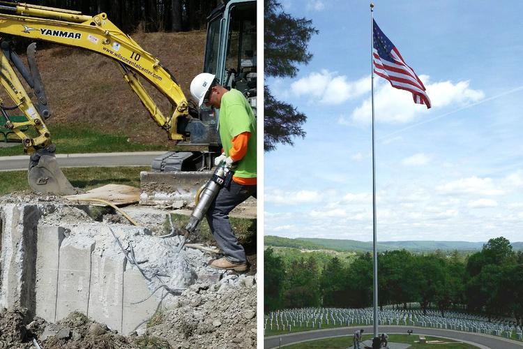 Flag Pole Rehabilitation and Replacement