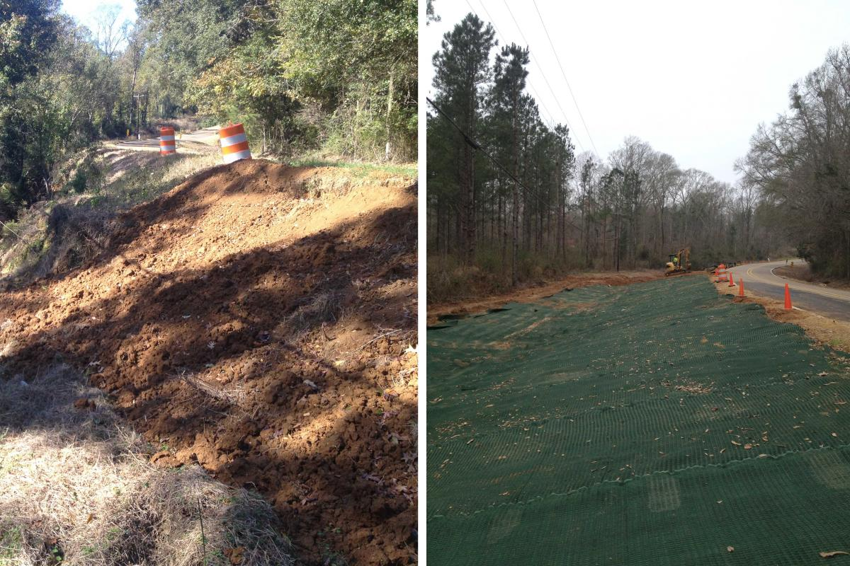 Highway Slide Rehabilitation and Earth Anchoring