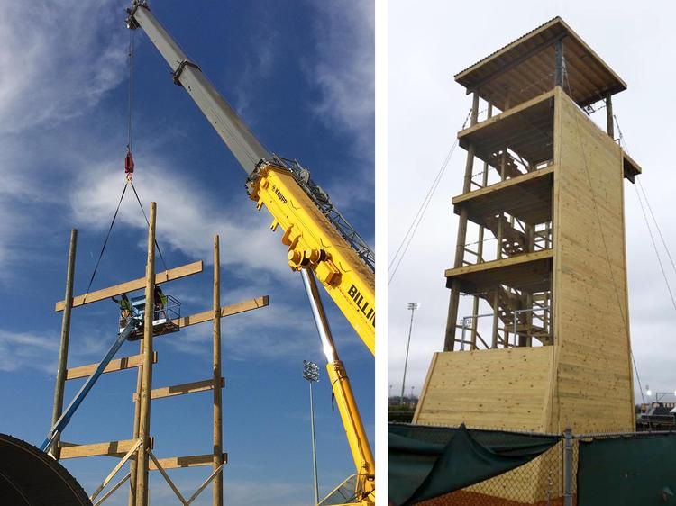 ROTC Rappelling Tower Demolition and Rebuild