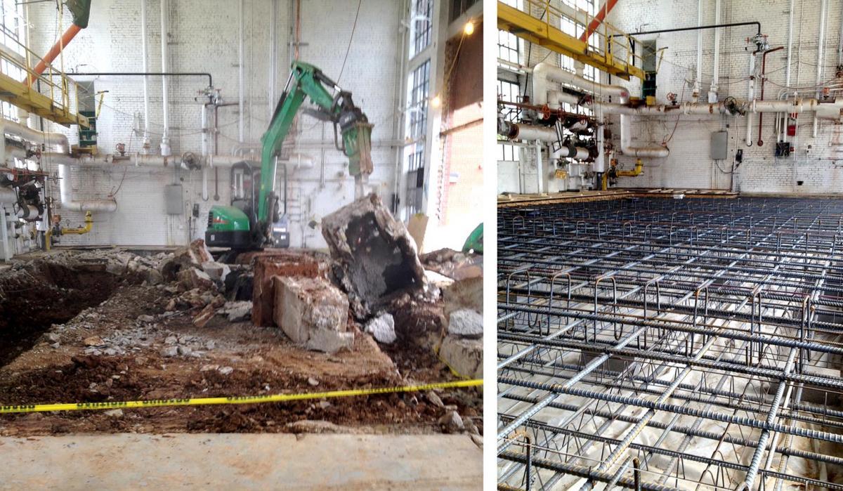 Concrete Repair & Boiler Replacement