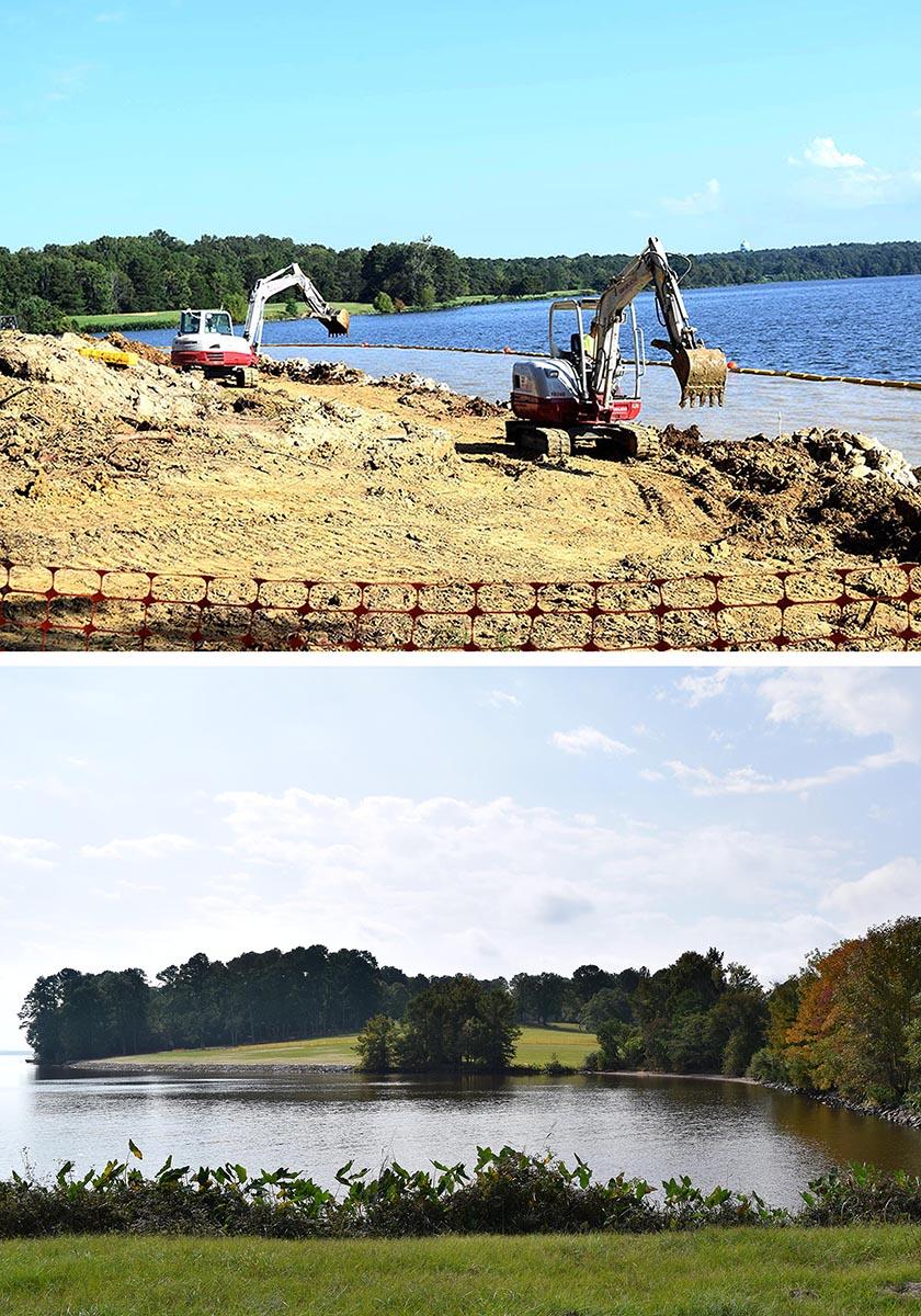 Reservoir Shoreline Restoration