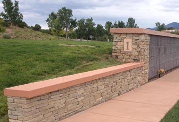 Columbarium Retaining Walls