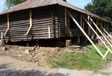 Old Ft. Rosalie Log Cabin Repair